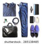 set of men's clothing and... | Shutterstock . vector #285138485