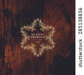vintage frame for luxury logos  ...   Shutterstock .eps vector #285138836