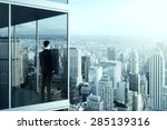 businessman in the modern... | Shutterstock . vector #285139316