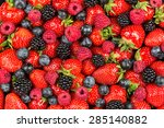 a variation of  berry fruits  | Shutterstock . vector #285140882