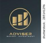 finance adviser logo vector | Shutterstock .eps vector #285141296