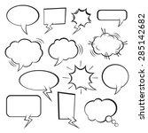 set of vector comic speech...   Shutterstock .eps vector #285142682