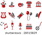vector icons pack   red series  ... | Shutterstock .eps vector #28515829