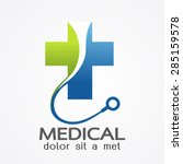 medical pharmacy logo design... | Shutterstock .eps vector #285159578