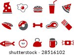 vector icons pack   red series  ... | Shutterstock .eps vector #28516102