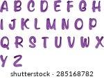 english alphabet a to z | Shutterstock .eps vector #285168782