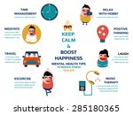 keep calm and boost happiness ... | Shutterstock .eps vector #285180365