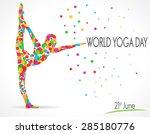 world yoga day vector... | Shutterstock .eps vector #285180776