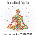 world yoga day vector... | Shutterstock .eps vector #285180782