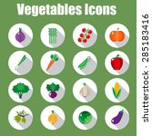 set of vegetable icons into... | Shutterstock .eps vector #285183416