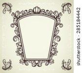 set of decorative vintage... | Shutterstock .eps vector #285184442