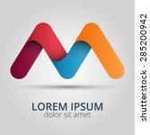 letter m logo icon design... | Shutterstock .eps vector #285200942