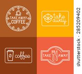 vector set of linear labels and ... | Shutterstock .eps vector #285209402
