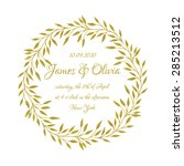 wedding card design with... | Shutterstock .eps vector #285213512