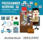 programmer working .infographic ... | Shutterstock .eps vector #285215492