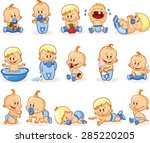 vector illustration of baby... | Shutterstock .eps vector #285220205