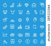 finance icons  simple and thin... | Shutterstock .eps vector #285221066