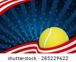 tennis america background | Shutterstock .eps vector #285229622