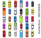 multicolored car collection... | Shutterstock .eps vector #285236858