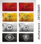 big set of vip cards | Shutterstock .eps vector #285238685