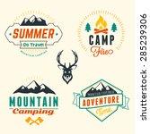 set of retro vintage summer... | Shutterstock .eps vector #285239306