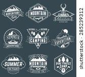 set of retro vintage summer... | Shutterstock .eps vector #285239312