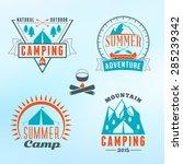 set of retro vintage summer... | Shutterstock .eps vector #285239342