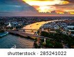 bangkok city sunset  chao... | Shutterstock . vector #285241022