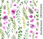 pattern color flowers... | Shutterstock . vector #285251642