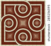 vector mosaic with classic... | Shutterstock .eps vector #285256595