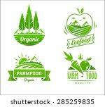 farm food logos. vector design... | Shutterstock .eps vector #285259835