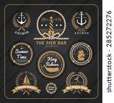 Vintage Nautical Anchor Labels...