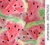 seamless pattern of sweet juicy ... | Shutterstock .eps vector #285276152