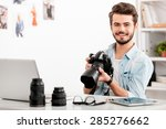 confident photographer.... | Shutterstock . vector #285276662
