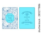 set of wedding invitation cards.... | Shutterstock .eps vector #285277886