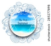 Blurred Summer Banner With...
