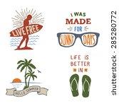 set of summer hand drawn... | Shutterstock .eps vector #285280772