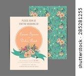 wedding invitation card | Shutterstock .eps vector #285281255