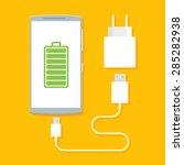 flat vector image of phone ... | Shutterstock .eps vector #285282938