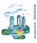 vector illustration in flat... | Shutterstock .eps vector #285283106