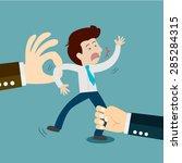 business snatching  employee... | Shutterstock .eps vector #285284315