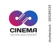 infinite strip of film.... | Shutterstock .eps vector #285289235