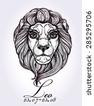 astrology zodiac leo sign. ...   Shutterstock .eps vector #285295706