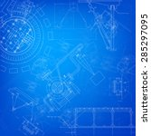 blueprint scheme of different... | Shutterstock . vector #285297095
