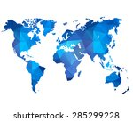 abstract background with a map... | Shutterstock .eps vector #285299228