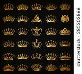 set of decorative victorian... | Shutterstock .eps vector #285303866