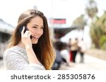 Woman Talking On The Phone...