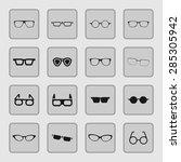 glasses icon set | Shutterstock .eps vector #285305942