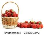 Fresh Strawberries In A Basket...