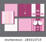 wedding invitations with birds | Shutterstock .eps vector #285313715